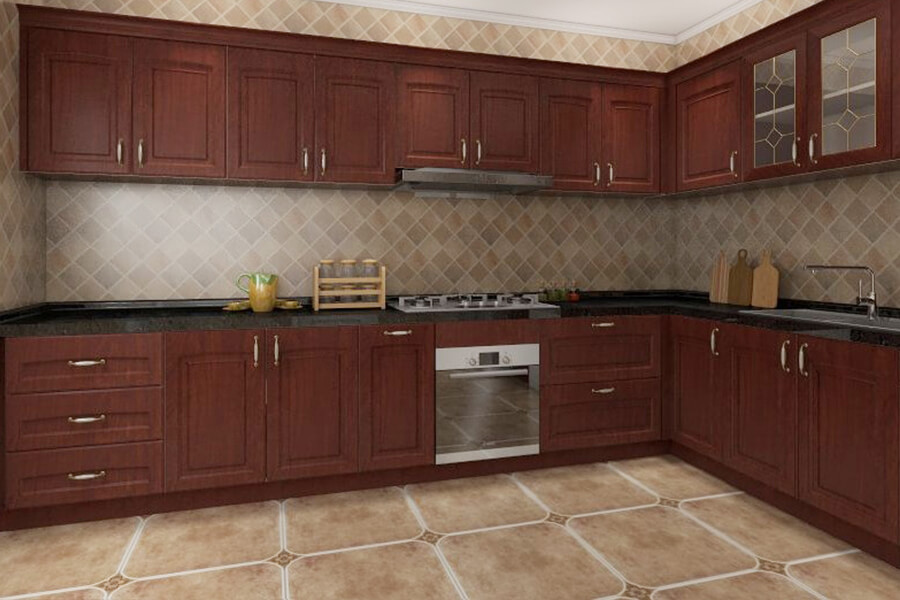 Red Kitchen Cupboards Red Oak Cabinets